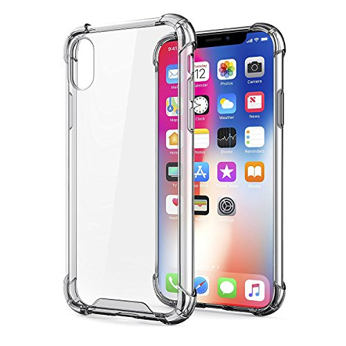 44a0101c1d iPhone X Case, Egotude® Shock Proof Hard Back Soft Bumper Anti Scratch  Cover Cases for Apple iPhone 10