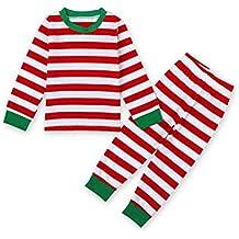 MIOIM® 2pcs Tops Camisetas y Pantalones Largo Rayado Cuello Ronda Conjuntos Trajes de Bebé Niños Niñas Pijamas Para Navidad Halloween Fiesta (1-7 años)