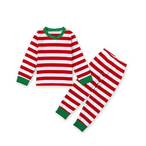MIOIM® 2pcs Tops Camisetas y Pantalones Largo Rayado Cuello Ronda Conjuntos Trajes de Bebé Niños Niñas Pijamas Para Navidad Halloween Fiesta (1-7