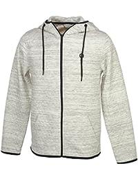 Jack and jones - Carbon white mel fz capsw - Vestes sweats zippés capuche