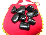 Jet Black Obsidian Tumbled Stone Approx 0.75 To 1