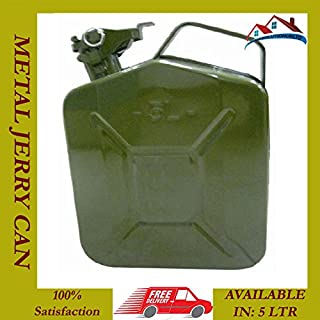 MANMAX 5 LITRE JERRY METAL CAN FOR PETROL DIESEL OIL FUEL WATER CONTAINER