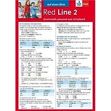 Red Line 2 - Auf einen Blick: Grammatik passend zum Schulbuch - Klappkarte (6 Seiten)