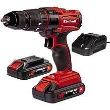 Einhell TC-CD 18-2 Li-i -Taladro de martillo (bateria de 18 V, linterna LED)