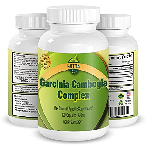 Garcinia Cambogia Complex, High Strength Extract for Weight Loss, The Perfect Appetite Suppressant To Start (Extra Strength Calcio)