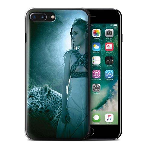 Officiel Elena Dudina Coque / Etui pour Apple iPhone 7 Plus / Endormi/Tigré Chat Design / Les Animaux Collection Félins/Léopard/Guerrier