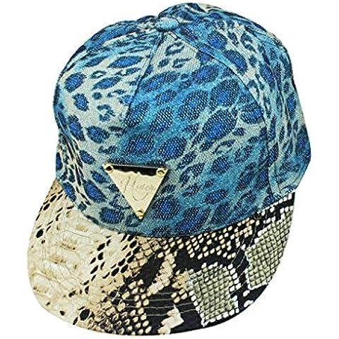 Fashion, Unisex, con applicazioni leopardate, Berretto da Baseball Snapback-Cappello Sun-Hip-Hop,-Cappello