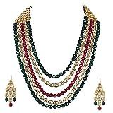 #3: Shining Diva Fashion Jewellery Traditional Kundan Necklace Set with Fancy Wedding Party Wear Earrings for Women & Girls