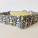 4GUAUS Collar Martingale para Perros - Modelo Verano Silvestre y Amarillo