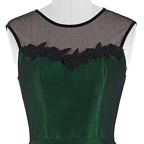 Yafex Damen Vintage Retro 1950er Kleid Festliche Kleid Hepburn Stil
