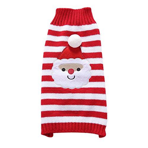 S-Lifeeling Santa Claus Hund Pullover Urlaub Halloween Weihnachten Haustier Kleidung Angenehm Weiches Hund Kleidung, XXL