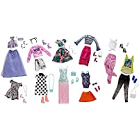 Barbie Pink Passport Fashion Doll Outfits - 10 Pack