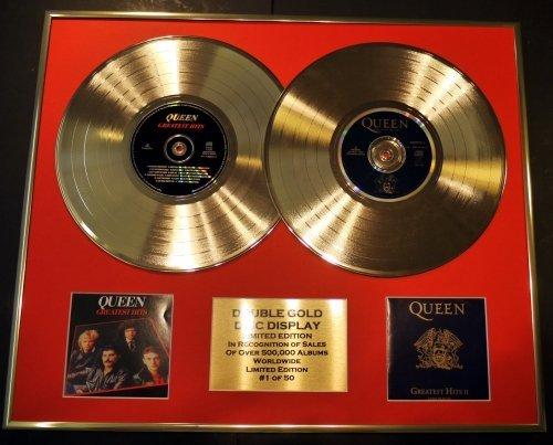 QUEEN/double CD Disco de Oro & Foto Display/Edicion LTD/Certificato di autenticità/GREATEST HITS & GR...