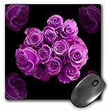 3drose Dreamy magenta violett rose Bouquet–Maus Pad, 8von 20,3cm (MP 29851_ 1)