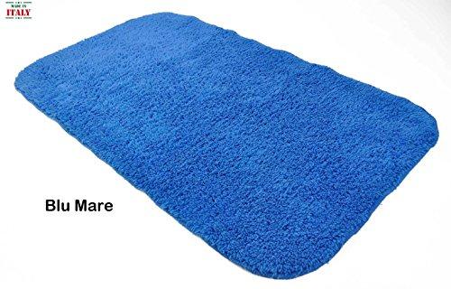 Casa tessile tappeto bagno antiscivolo simple blu mare cm