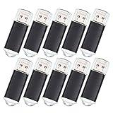 20 Stück 64MB USB Sticks - USB 2.0 Flash Laufwerk - Schwarz Kleine Speicher für Computer by Datarm