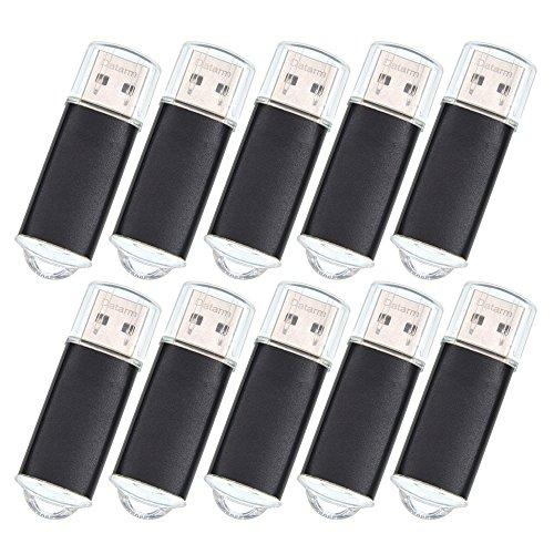 USB-Stick 512 MB 10 Stück Mini USB Flash Laufwerke - Metall Externe Geräte Datenspeicher Speicherstick - Schwarz Kleine Kapazität Memory Sticks USB 2.0 Flash Drives by Datarm