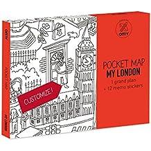 OMY Diseño y Play - Mapa de Londres bolsillo - Mini Plano Omy Londres, Juguete Manualidades A partir 4 Años