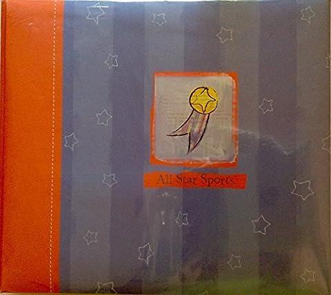 CR Gibson Tapestry All Star Sports Photo Album Scrapbook Album