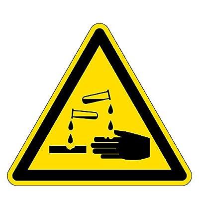 Warnzeichen - Warnung vor ätzenden Stoffen - Aluminium Selbstklebend