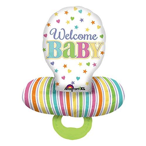 (Amscan 3095201 55x 150 cm große Baby-Schnuller Multifolien-Ballone)