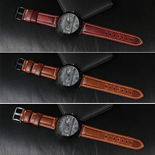 e3e07417fb62 Reloj Correa De Cuero para Hombre Reloj Panerai Repuesto Vintage ...