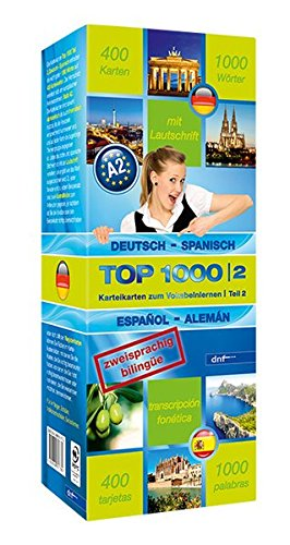 Top 1000 Teil 2. Deutsch-Spanisch / Spanisch-Deutsch: 400 Karteikarten