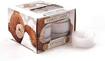 YANKEE CANDLE–Candela in Vaso Profumo Biscotto Fiocco