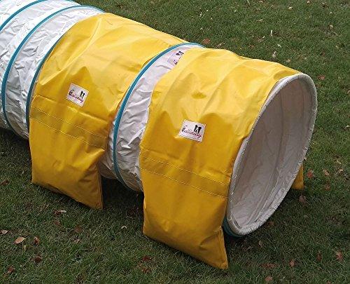 Agility Tunnel Stützsandsäcke (2er Pack) Standard - org. Callieway - verschieden Farben (Gelb 2x)