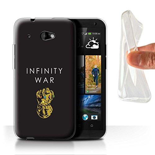 601 Htc Telefon-abdeckungen Für Desire (Stuff4 Gel TPU Hülle / Case für HTC Desire 601 LTE / Stulpe Kunst Muster / Infinity War Inspiriert Kollektion)