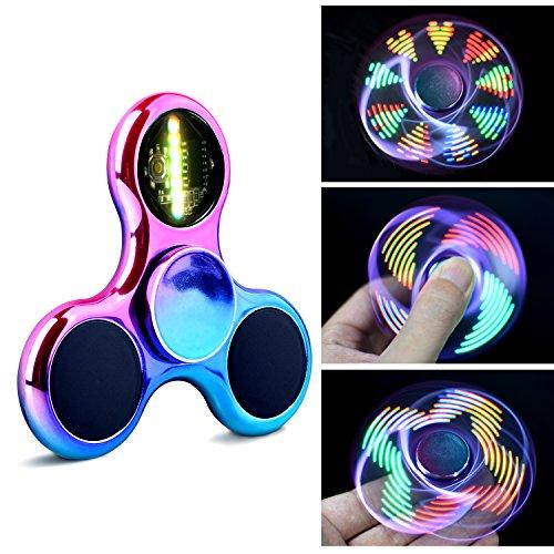 Spinner Fidget Giocattoli Qumiat molti Modi Lampeggiante Arcobaleno Luci LED Giocattolo EDC Ottimo Regalo per Ragazzi Adulti Aiuta Anti-Anzia Concentrazione Noia Anti Stress Alta velocità (Colorato)