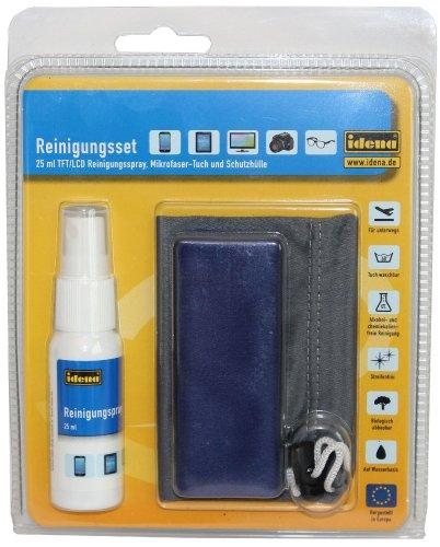 idena-190084-reinigungsset-mit-tft-lcd-reinigungsspray-mikrofasertuch-und-beutel-25-ml
