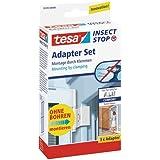 tesa Insect Stop Vliegenhor ALU Comfort Adapterset - Speciaal voor aluminium hordeuren - Montage zonder boren - Wit