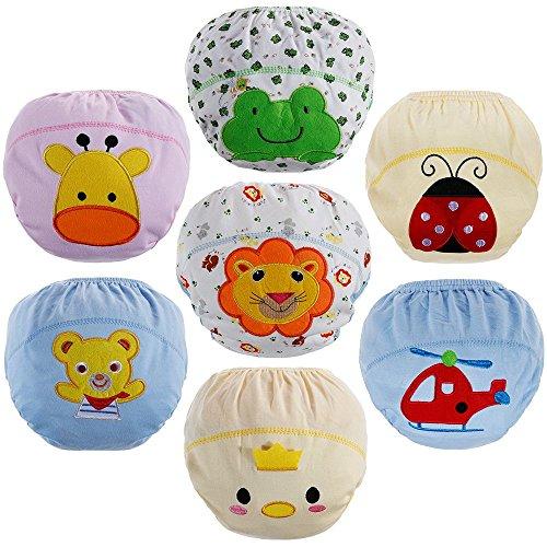 Lictin Trainerhosen Baby Lernwindel Windelhose Wasserdicht Trainer Windelhosen für Baby 1,5 bis 3 Jahre 24-32kg 7 Stück