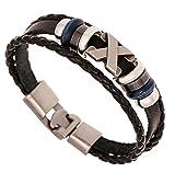 AIUIN Schmuck Herren Polyester Anchors Edelstahl Armbänder Herrenarmband Für Männer Herrenarmreif Armreif Armkette Legierung (Style 4)