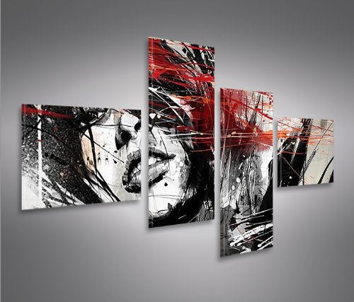 Quadro moderno street art 4lp stampa su tela quadro x poltrone salotto cucina mobili ufficio - Amazon wandbilder ...