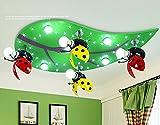 NAUY- Kindergarten Dekorative Blatt Käfer Kinder-Lampen-LED Kinder Deckenleuchten Cartoon Leuchten