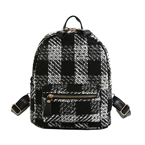 Frauen Rucksack Student Bag Casual Plaid Tasche,Style2 Style3