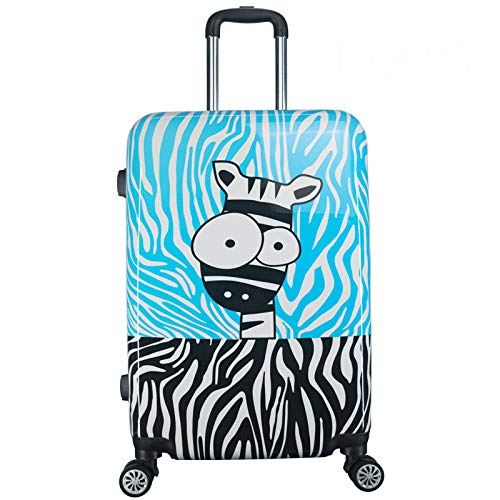 GQDP Password Koffer Koffer Anime Cartoon Kinder Trolley Koffer Cartoon Zebra 22in