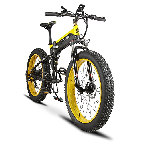 Plegable eléctrico Cruiser Bike extrbici T750 500 W 48 V 10 Ah oculta recargable grasa bicicleta montaña playa nieve bicicleta...