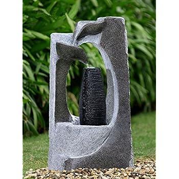 gartenbrunnen harfe design springbrunnen mit led. Black Bedroom Furniture Sets. Home Design Ideas