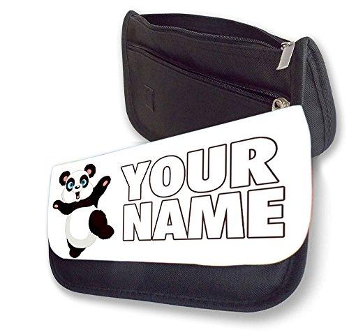 hirosâ ® Personalisieren Bleistift case-dancing Panda Bleistift gratis Make Up Fall, zurück zu Schule Geschenk, Reisen Waschen Tasche, Kosmetik Beutel Organizer Toiletry Bleistift Fall Brieftasche.