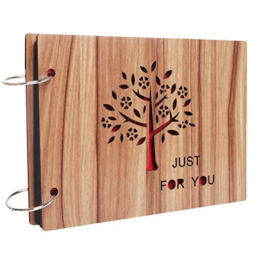 Álbum de fotos DIY con cubierta de madera