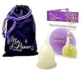 Me Luna Menstruationstasse Sport, Kugel, Gold-Glitter, Größe M