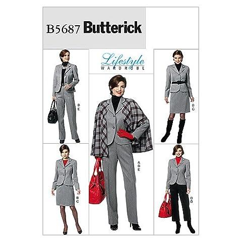 Misses' Cape, Jacket, Skirt and Pants-B5 (8-10-12-14-16)
