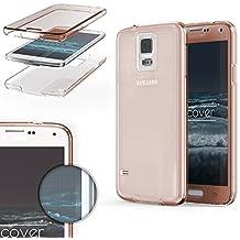 Urcover® Samsung Galaxy S5   Funda Carcasa Protectora 360 Grados   TPU en Rosa   Protección Completa Case Cover Smartphone Móvil Accesorio