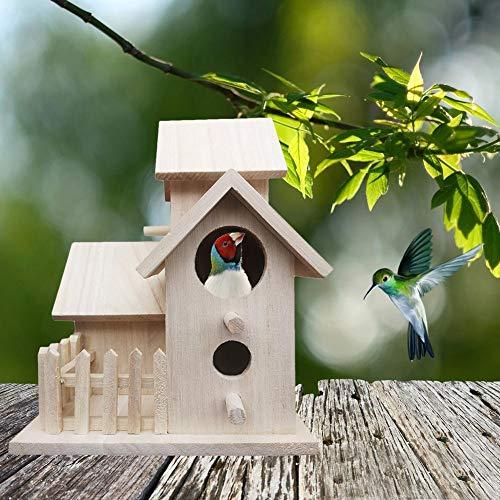 Juman634 DIY Vogelhaus Feeder Outdoor Vogelnest Villa Hängen Zucht Haus Pet Sitzstangen Dekoration -