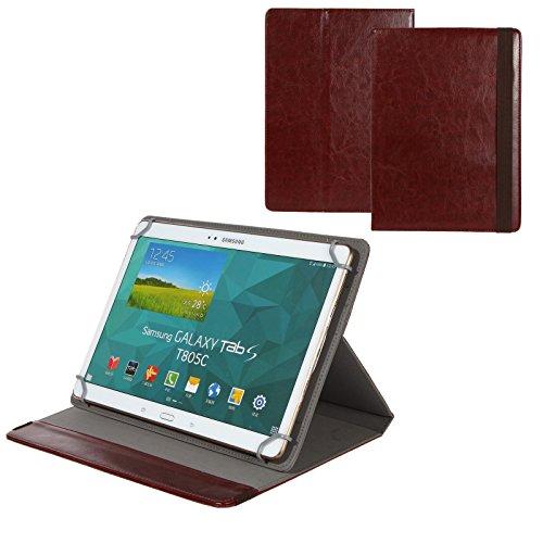 BRALEXX Universal 10 Zoll Tablet Tasche passend für CSL Panther Tab 9, Braun