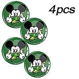 Skino 4 x Aufkleber 3D Gel Silikon Autoaufkleber Stickers Micky Maus Mittelfinger Mickey Mouse Felgenaufkleber Für Radkappen Nabenkappen Radnabendeckel Rad-Aufkleber Nabendeckel Auto Tuning Andere Größe A 73 (65mm)