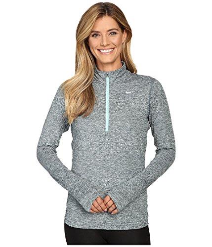 Nike Element Half Zip–Top à manches longues pour femme gris (hasta / htr / green glow)